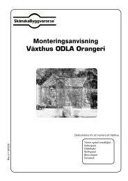 Monteringsanvisning Växthus ODLA Orangeri
