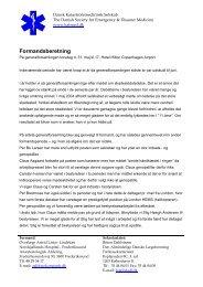 Læs formandens beretning - Dansk Katastrofemedicinsk Selskab