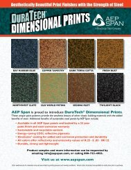 Aesthetically Beautiful Print Finishes with the Strength of ... - AEP Span