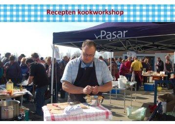 Recepten kookworkshop - Pasar