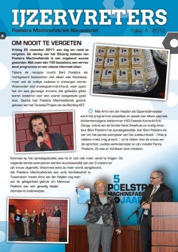 Poelstra Nieuwsbrief – 2012 editie 3 - Poelstra Machinefabriek