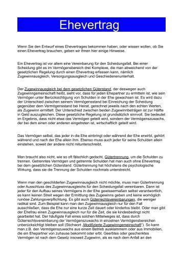 ehevertrag der notare forchheim - Trennungsvereinbarung Muster Kostenlos