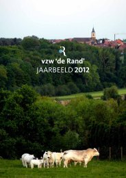 vzw 'de Rand' JAARBEELD 2012