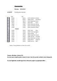Eksamensliste a-na112 Prøven afholdes i lokale C21 Du skal være ...