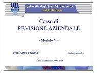 Corso di REVISIONE AZIENDALE - Ch.unich.it