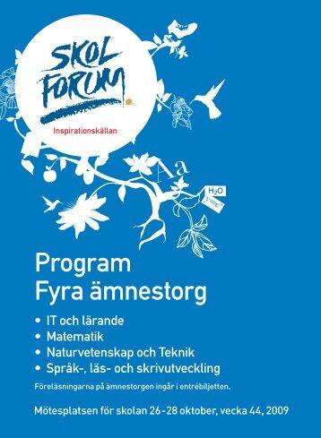 Program Fyra ämnestorg - Datorn i utbildningen