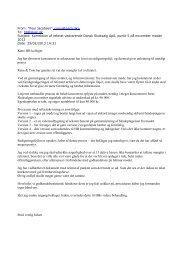 Mail fra Poul Jacobsen 25. februar vedr. korrektion af referatet