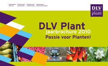 jaarbrochure 2010 - DLV Plant
