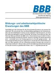 Positionspapier zur Bildungs- und Arbeitsmarktpolitik