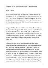 Toespraak Voorzitter 150 jaar perstribune op 1 ... - Tweede Kamer