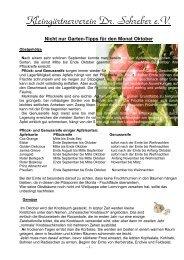 Nicht nur Garten-Tipps für den Monat Oktober - Kleingärtnerverein ...