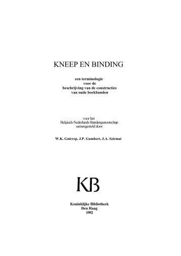 KNEEP EN BINDING - Boekbinderij Papyrus