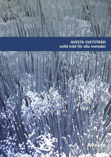 Avestas produktprogram för SOLIDTRÅD - Svetsteknik