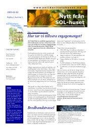 Nytt från SOL-huset - Solidaritetshuset