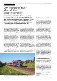 ÖPNV im ländlichen Raum – wirtschaftlich – sozial ... - TJM-Consulting