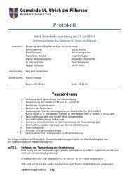 4. Gemeinderatssitzung (122 KB) - .PDF - St. Ulrich am Pillersee ...