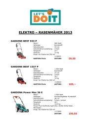 elektro – rasenmäher 2013