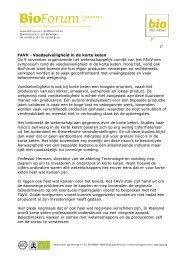 FAVV - Voedselveiligheid in de korte keten Op 9 november ...