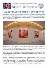 AUSSTELLUNG ART OF SURGERY II - Krankenhaus Nordwest