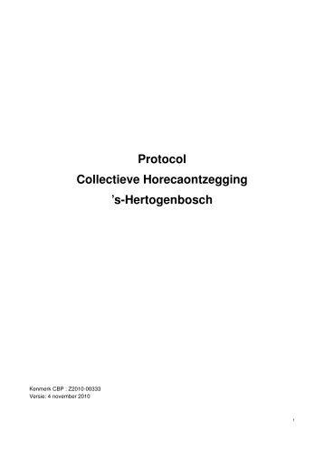 Protocol - Koninklijke Horeca Nederland Afdeling Rosmalen