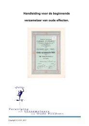 Handleiding voor de beginnende verzamelaar - Vereniging van ...
