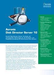 Acronis Disk Director Server 10 - Basis 1