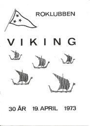 30 års Jubilæumsblad 1943-73 - Roklubben Viking