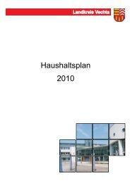 Haushaltsplan 2010 - beim Landkreis Vechta