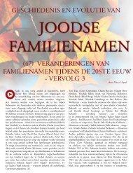 Joodse familienamen - De Centrale