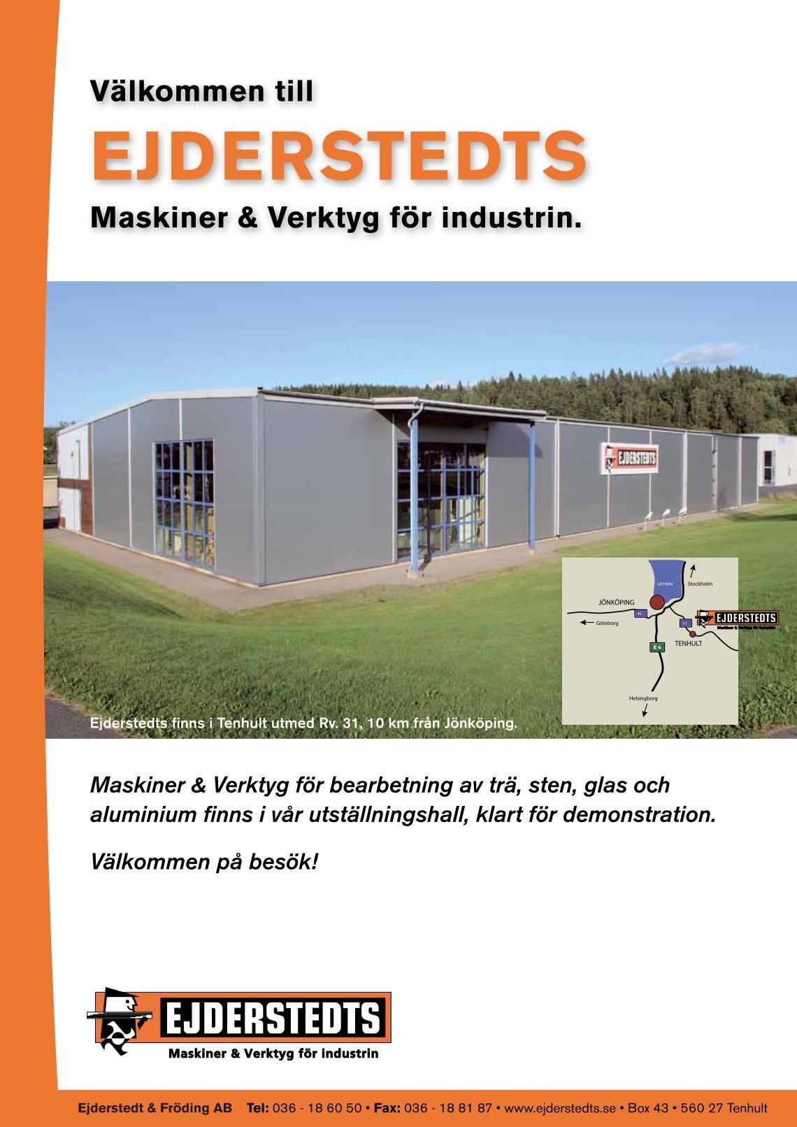 Inredning maskiner och verktyg : 3 free Magazines from EJDERSTEDTS.SE