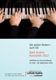Leitfaden zur Ausschreibung zum Download (PDF) - Bank Austria ...
