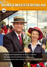 Burgemeestersblad nr 64 - Nederlands Genootschap van ...