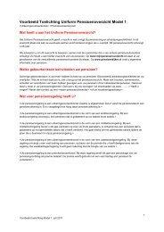 UPO model 2012 toelichting uitkeringsovereenkomst De door ... - Spo