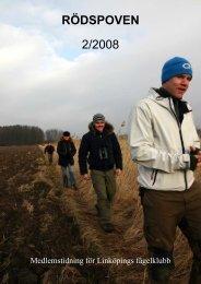 Rödspoven nr 2 2008 (PDF - ca 900kB) - Linköpings Fågelklubb