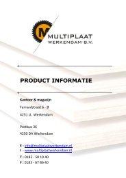 Informatiemap 2011/2012 - Multiplaat Werkendam