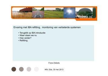 Ervaring met IBA refitting, monitoring van verbeterde systemen - IKN