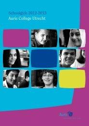 Schoolgids 2012-2013 Auris College Utrecht - Koninklijke Auris Groep
