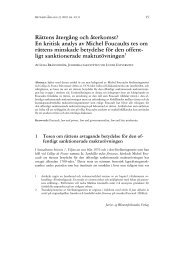 Retfærd nr 4-2010 - Rättens återgång och återkomst? En kritisk ...