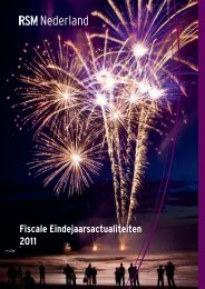 Fiscale Eindejaarsactualiteiten 2011 - RSM Wehrens Mennen De ...