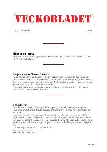Utskriftsvänlig form - Veckobladet