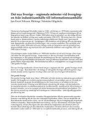 Det nya Sverige – regionala mönster vid övergång- en från ...