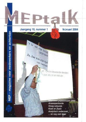 MEPtalk 2004-1 - eTNOs