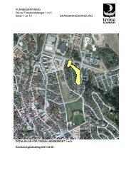 PLANBESKRIVNING för Trosalundsberget 130407 - Trosa kommun