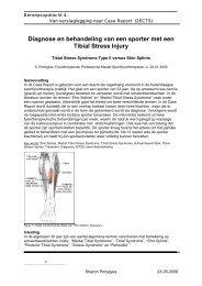 Diagnose en behandeling van een sporter met een ... - SportPhysicS