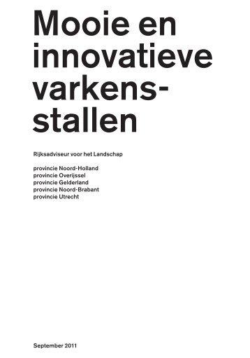 Mooie en innovatieve varkensstallen - College van Rijksadviseurs