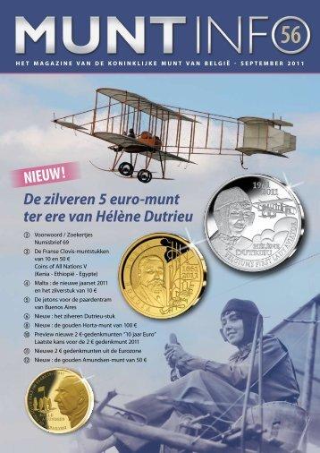 NIEUW! De zilveren 5 euro-munt ter ere van Hélène Dutrieu