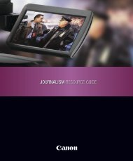 JOURNALISM RESOURCE GUIDE - Canon Industry Resource ...