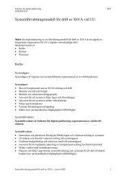 Systemförvaltningsmodell för drift av DiVA