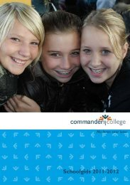 Schoolgids 2011-2012 - Commanderij College