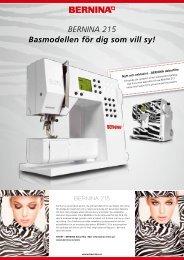 BERNINA 215 Broschyr (PDF,616KB)